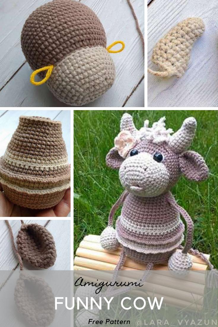 Amigurumi Funny Cow Crochet Pattern