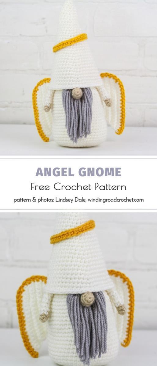 Crochet Angel Gnome Free Pattern