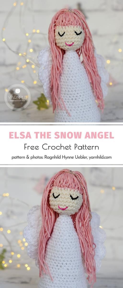Elsa The Snow Angel Free Crochet Pattern
