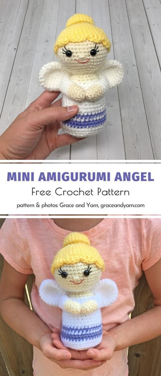 Mini Amigurumi Angel Free Crochet Pattern