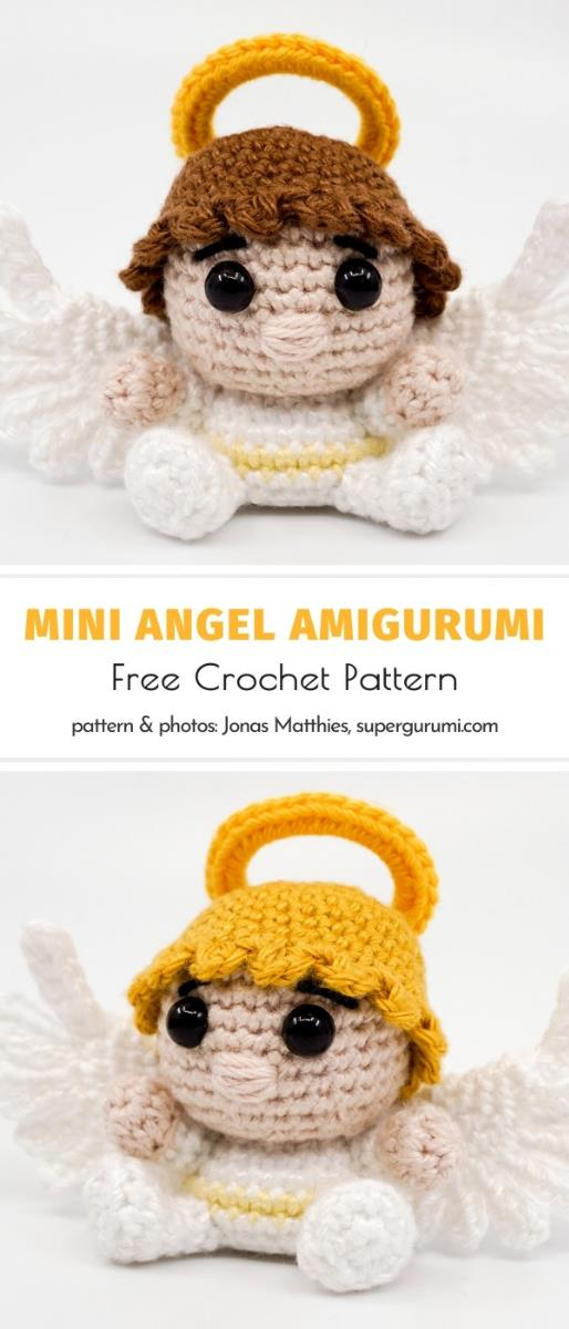 Mini Angel Amigurumi Free Crochet Pattern