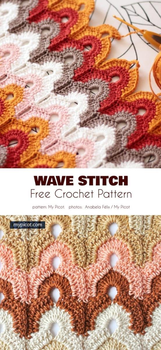 Wave Stitch Free Crochet Pattern