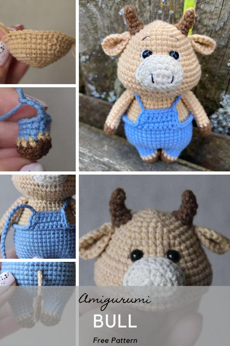 Amigurumi Bull Crochet Pattern