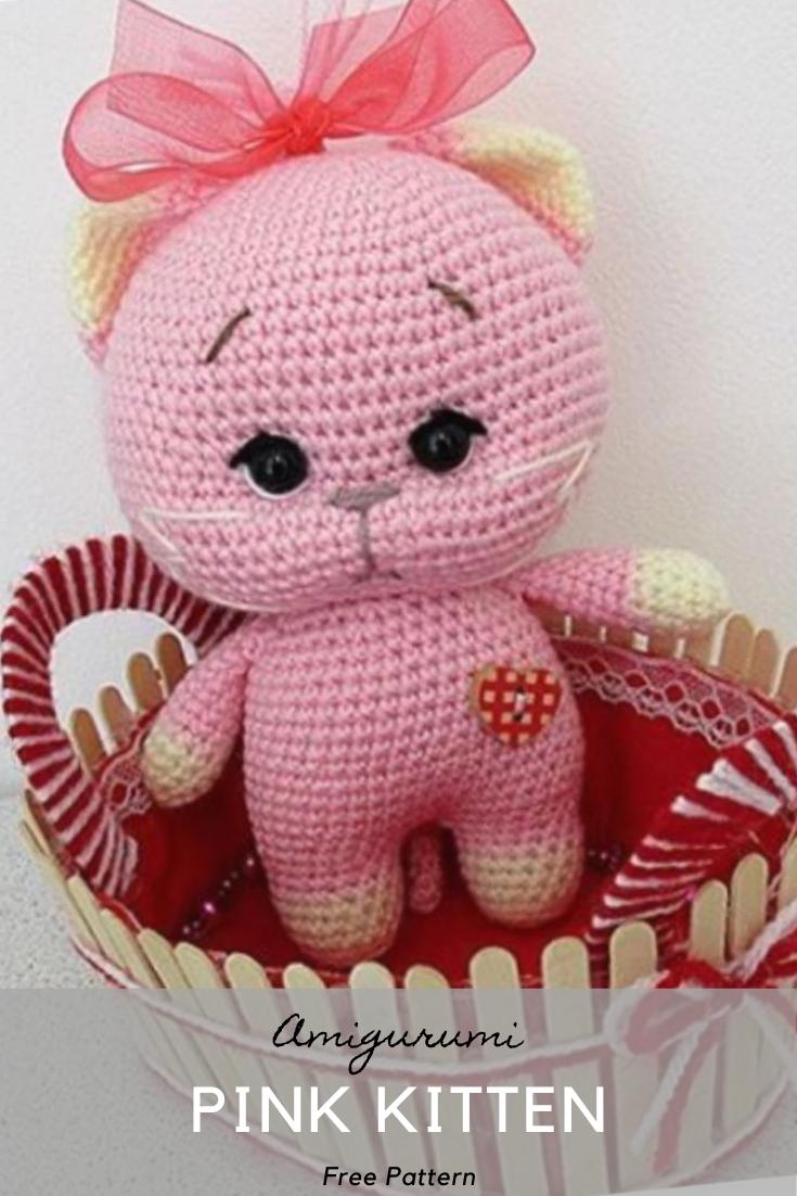 Amigurumi Pink Kitten Crochet Pattern
