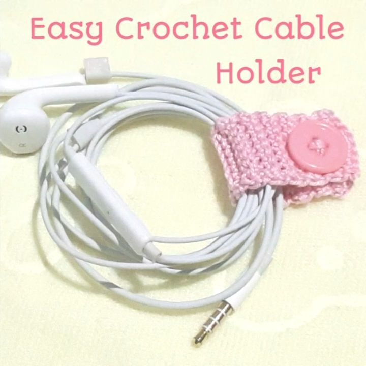 Crochet Cable Holder😊